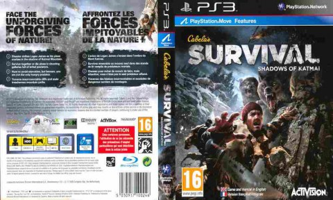 Игра Cabela's Survival Shadows of Katmai, Sony PS3, 170-600 Баград рф