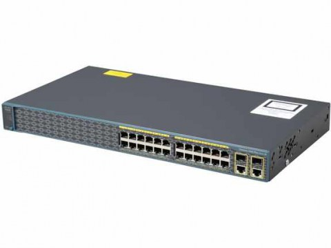 Cisco Catalyst 2960 Plus 24 10_100 PoE + 2 T_SFP LAN Lite, у-1, Баград.рф