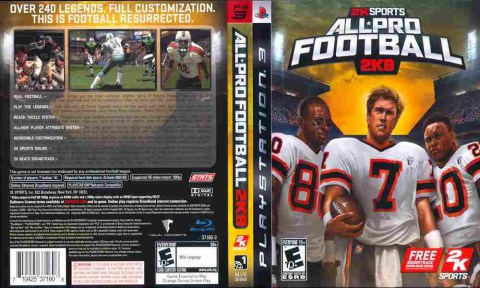 Игра All Pro Football 2K8, Sony PS3, 170-667 Баград рф