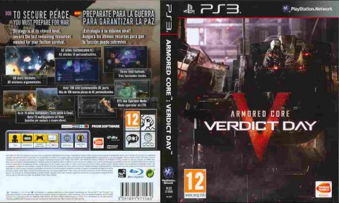 Игра Armored Core Verdict Day, Sony PS3, 170-480 Баград рф