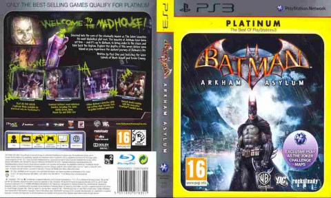 Игра Batman Arkham Asylum PLATINUM, Sony PS3, 171-354