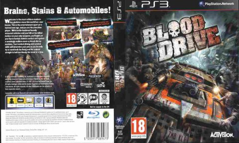 Игра Blood Drive, Sony PS3, 170-603 Баград рф