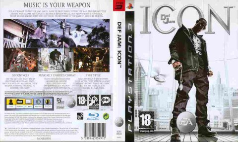 Игра DEF JAM ICON, Sony PS3, 170-96