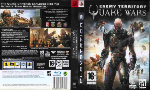 Игра Enemy territory Quake wars, Sony PS3, 170-58 Баград рф