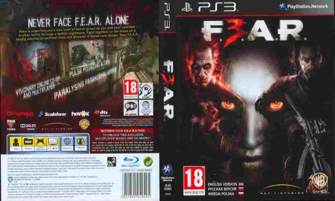 Игра F3AR FEAR 3, Sony PS3, 171-16 Баград рф